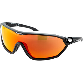 Alpina S-Way L CM+ Lunettes, black matt/red mirror